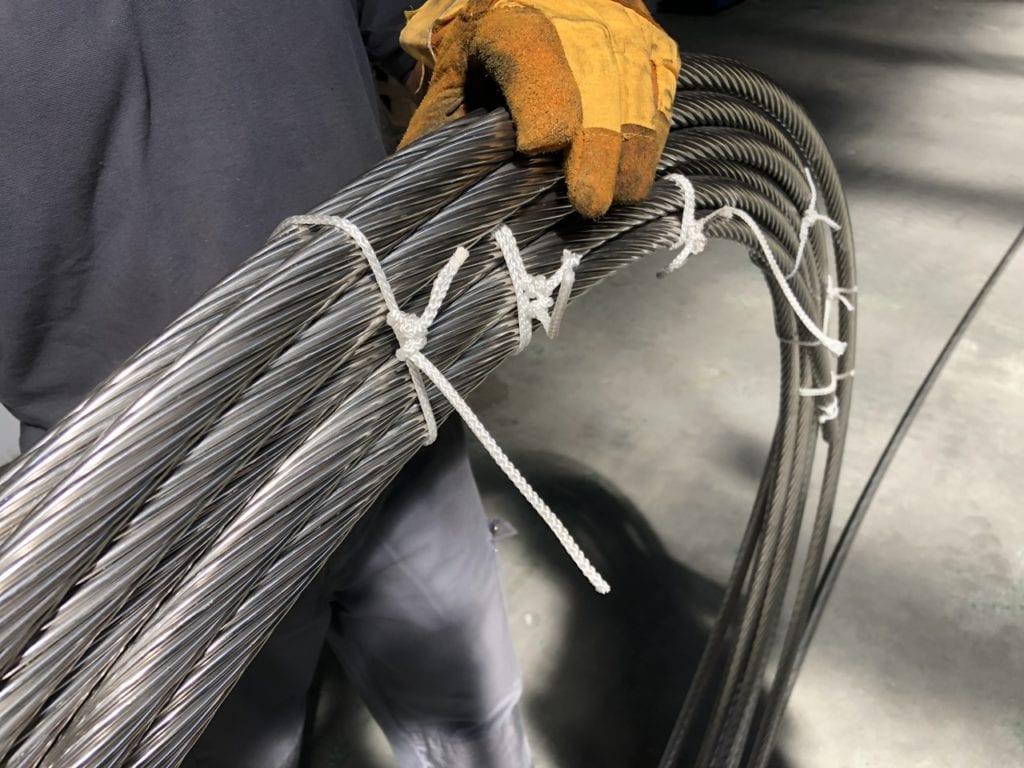 RVS Kabel opgerold