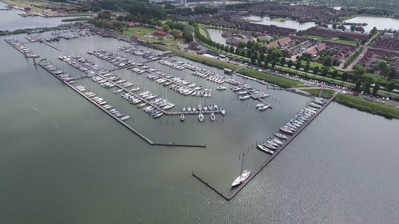 Bovenaanzicht Jachthaven Lelystad