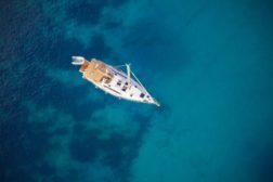 Aerial view of sailling boat - CS.RIGGING